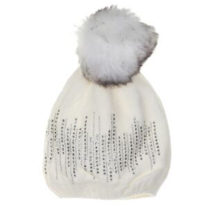 Cozy Cream Pompom Hat