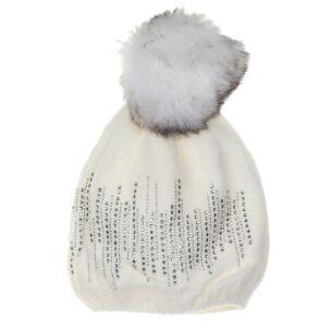 Cozy Cream Pompom Hat