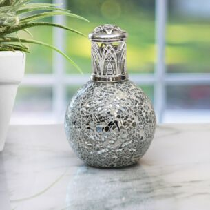 """Desire Aroma"" Air Purifying Fragrance Lamp - Silver Mosaic"
