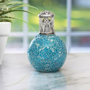 """Desire Aroma"" Air Purifying Fragrance Lamp - Teal Mosaic"