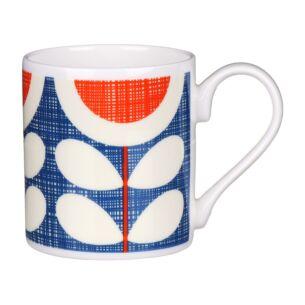 Blue Scribble Sunflower Standard Mug