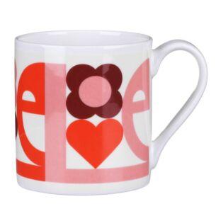 Pink 'Love' Large Mug