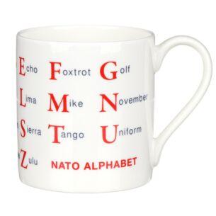 Nato Alphabet Large Mug