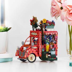 """""""The Flower Seller"""" 3D Card"""