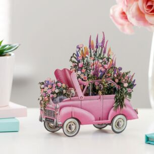 'The Pink Flower' Car 3D Card