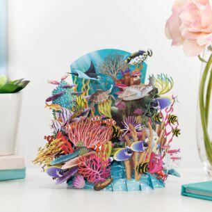 'Reef Life' Pop Up 3D Card