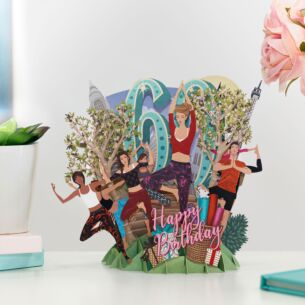 """60 Today"" Female 3D Birthday Card"