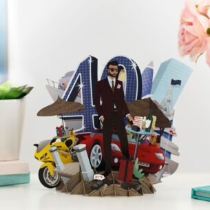 """40 Today"" Male 3D Birthday Card"