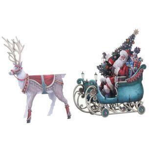 Santa's Sleigh 3D Christmas Card