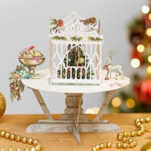 'Robins Table' 3D Christmas Card