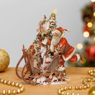 Woodland Sleigh 3D Christmas Card