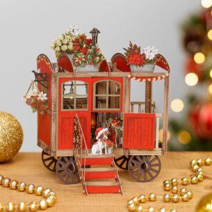 Christmas Hut 3D Christmas Card