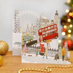 'London' Zig Zag 3D Christmas Card