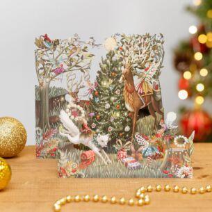 Forest Fairies Zig Zag 3D Christmas Card