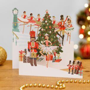 Nutcracker Zig Zag 3D Christmas Card
