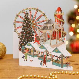 Winter Wonderland Zig Zag 3D Christmas Card