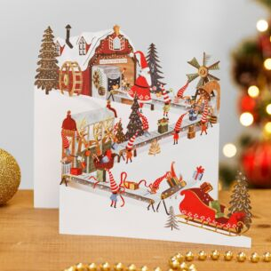 The Workshop Zig Zag 3D Christmas Card