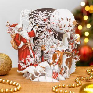 'White Magic' 3D Christmas Card