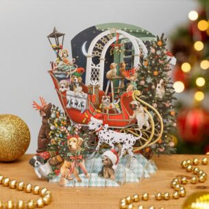 'Doggie Noel' 3D Christmas Card