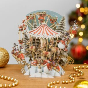 The Bringer of Snow's Carousel 3D Christmas Card