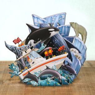 """Me & McQ """"Whales"""" 3D Card"""