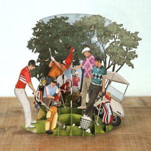 """""""Golf World"""" 3D Card"""