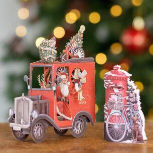 'UK Postie' 3D Christmas Card