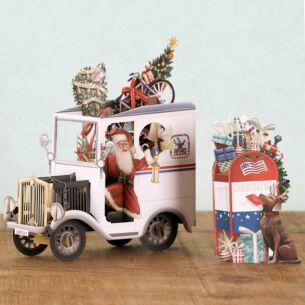 Me & McQ USA Postie 3D Christmas Card
