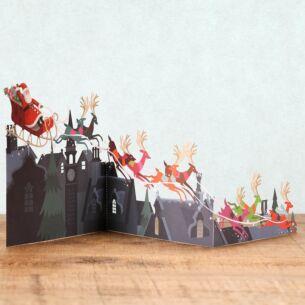 Me & McQ Roof Tops Zig Zag 3D Christmas Card