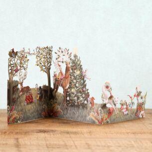 Me & McQ Forest Fairies Zig Zag 3D Christmas Card