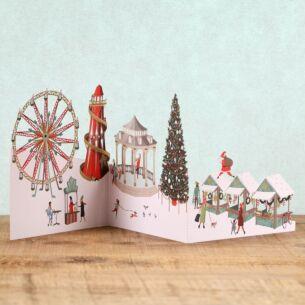 Me & McQ Winter Wonderland Zig Zag 3D Christmas Card