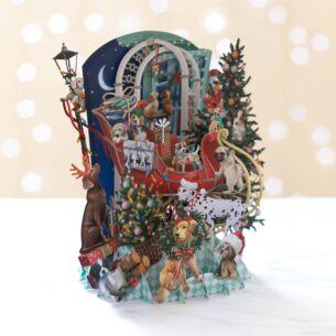 Me & McQ 'Doggie Noel' Pop Up Christmas Card