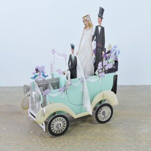 """The Wedding Car"" 3D Card"