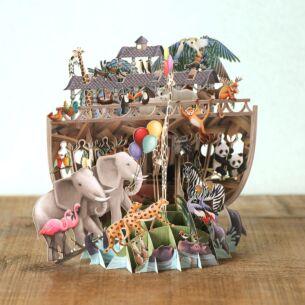 """Me & McQ """"Noah's Ark"""" 3D Card"""