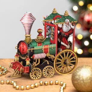 'Santa's Train' 3D Christmas Card