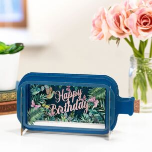 Happy Birthday Butterfly Message In A Bottle Card