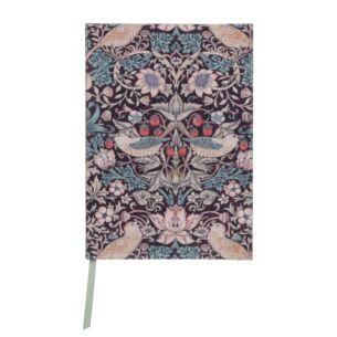 Morris & Co Strawberry Thief A5 Fabric Notebook
