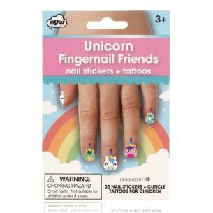 Unicorn Fingernail Friends & Cuticle Tattoos