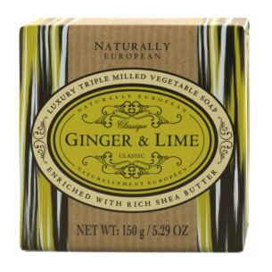 Naturally European Ginger & Lime Soap 150g