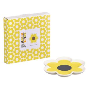 6 Petal Flower Yellow Trinket Tray