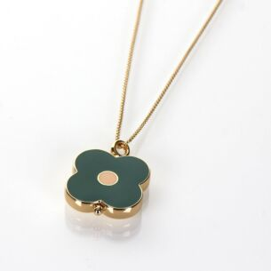 Orla Kiely Gold-Plated Flower Spot Abacus Necklace