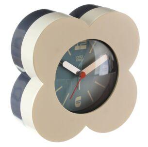 Cream Flower Spot Alarm Clock