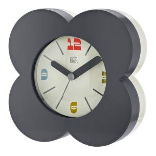 Orla Kiely Charcoal Flower Spot Alarm Clock