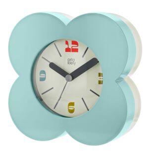 Orla Kiely Sky Blue Flower Spot Alarm Clock
