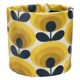 Orla Kiely 70's Oval Flower Dandelion Yellow Small Plant Bag