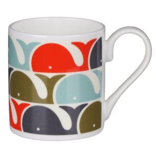 Orange Whale Print Standard Mug