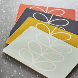Set of 4 Boxed Linear Stem Placemats