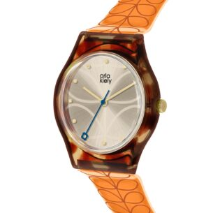 Tortoiseshell with Orange Stem Bobby Watch