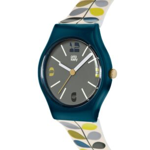 Dark Blue & Khaki Stem Bobby Watch