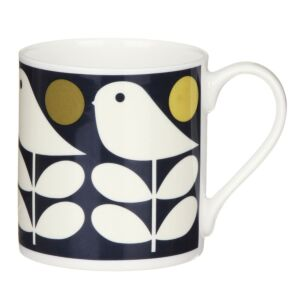 Orla Kiely Navy Early Bird Large Mug